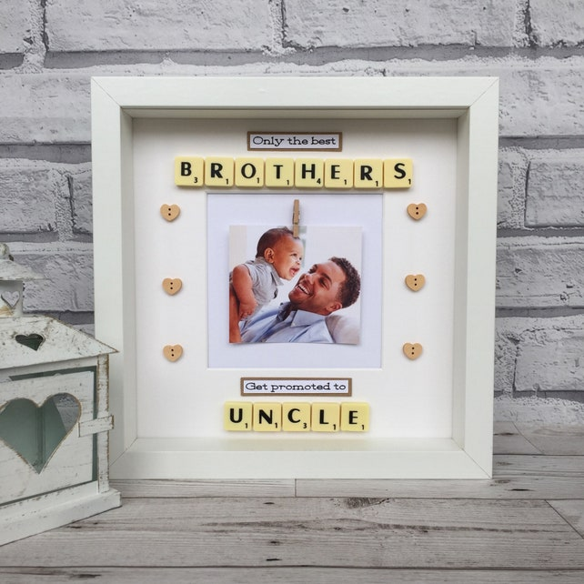 Only The Best Brothers Get Promoted To Uncle Scrabble Frame | Etsy