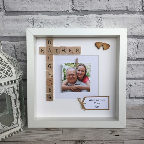 Father And Daughter Scrabble Frame Father/Daughter Frame   Etsy