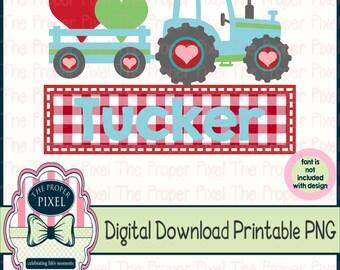 Boys Valentine Clipart Tractor Wagon Sublimation Designs Download Diy Shirt Png Design For Kids Heat Transfer Design Buffalo Plaid