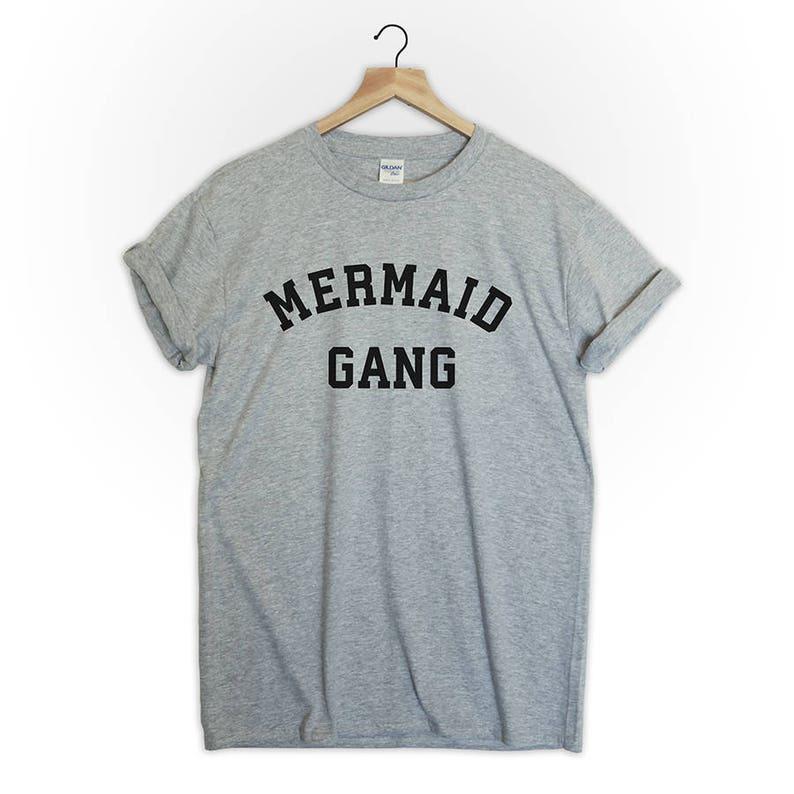 Mermaid Gang tshirt shirt tee top fashion style blogger tumblr image 0