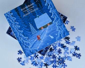 Scandinavian Christmas Jigsaw Puzzle 750 pieces by Eva Melhuish - 'Christmas Cottage'