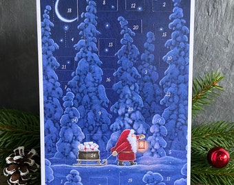 Advent Calendar Greeting Card by Eva Melhuish 'Forest Gifts'