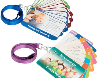EYFS Characteristics of Effective Learning and Fundamental British Values Key Ring Cards