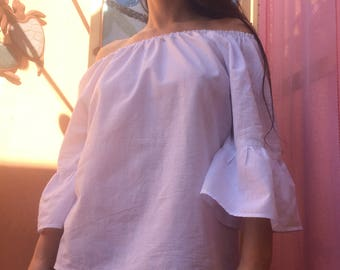 Cotton Hippie Bluse/tunic - Boho hippie Summer style
