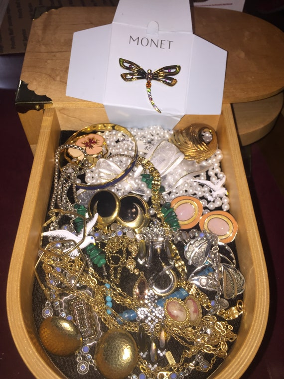 Vintage SIGNED Costume Jewelry Lot Monet Napier Ge