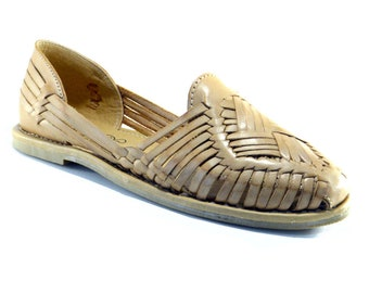Leather Mexican Huaraches Tan - Leather Huaraches - Leather Sandals - Shoes  for Women DES-011 1f5c54fe3