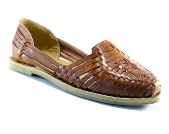 28e88967c797 Leather Mexican Huaraches Chedron - Leather Huaraches - Leather Sandals -  Shoes for Women DES-008