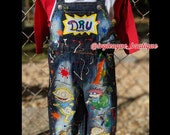Character Distressed Denim Kids denim Distressed shorts Rugrats Outfit for Girls Boys toddler outfit