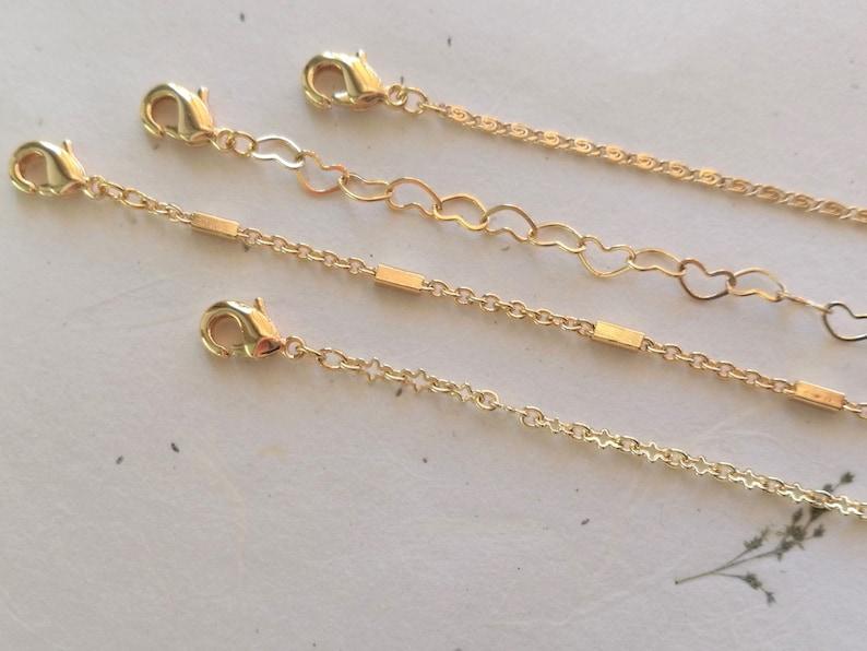 Dainty Gold Bracelets set Everyday Thin Minimalist Gold Jewelry. Delicate Layered Chain Bracelets Mix /& Match Simple Dainty Bracelets Set