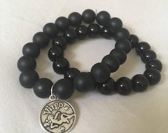 Onyx Power Bracelet | Angel Goddess Essential Oils Diffuser Bracelet | Root Chakra Healing | Protection Grief Depression Leo Taurus Scorpio