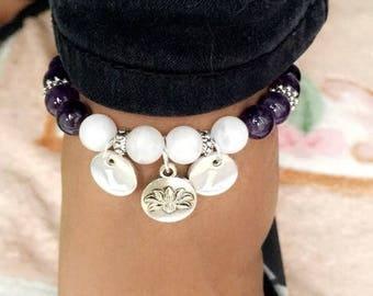 Custom Crystal Anklet | Bespoke Design Chakra Goddess Angel Gemstone | Charms and Multiple Crystal Options