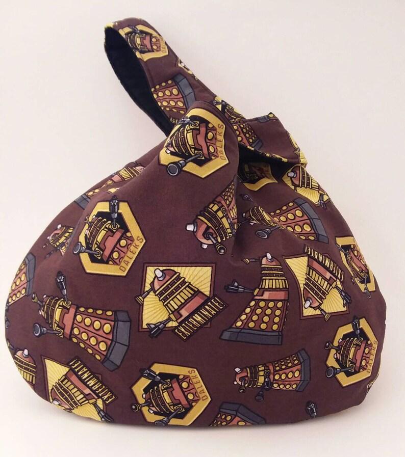 Doctor Who Japanese Knot Bag Daleks