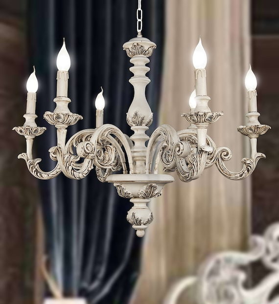 Custom Gothic Candle Chandelier: Hand Forged By Master