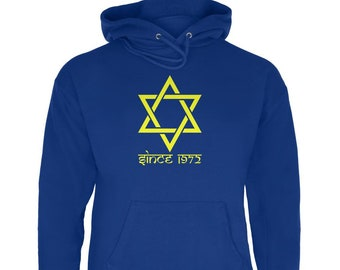 Custom Date Star of David Jewish Since Mens Sweatshirt