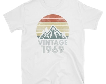d784efa41 50th Birthday Shirt For Men & Woman - 1969 T-Shirt - Gift For 50 Years Olds  - Vintage 1969 Tee - 50 B-Day Shirts- Retro Hiking Mountain 1969