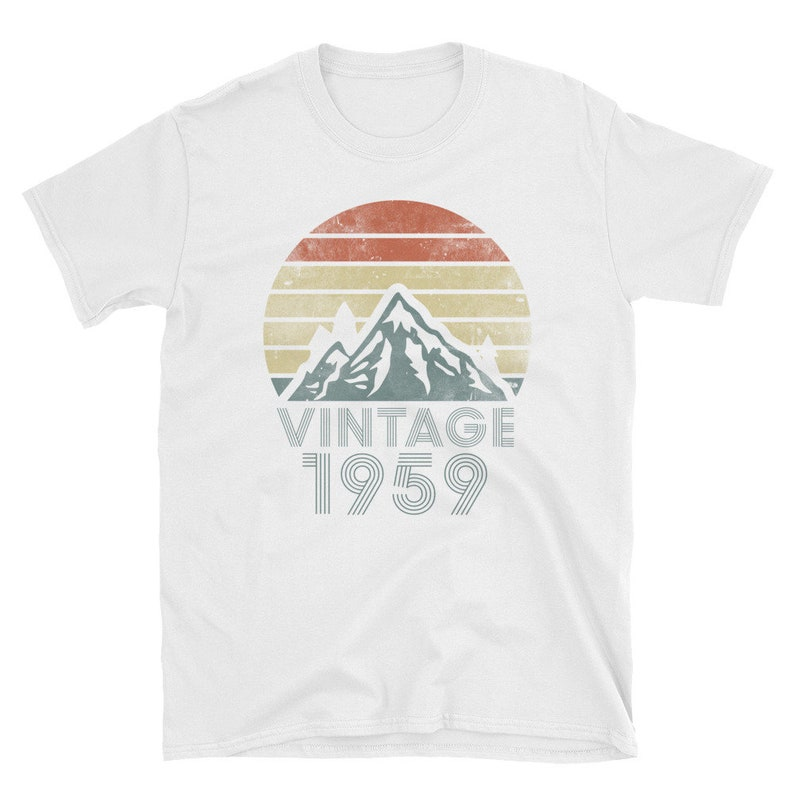 Awesome Made In 1959 Womens Vintage Present Ladies  GIft 60th Birthday T shirt