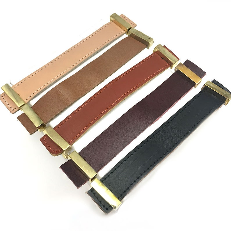 Black Faux Leather Handle