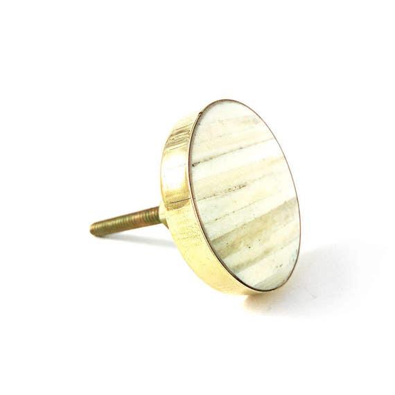 Creme und Gold Discoid Knopf weiß und Gold Knopf Luxe | Etsy