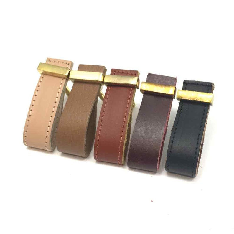 Faux Leather Handle Brown