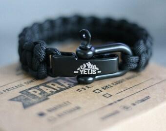 Survival Paracord Bracelet with Cobra Stich