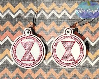 Widow-Earrings- In the Hoop- Dangles- ITH- Machine Embroidery Design-