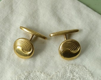 antique cufflinks gold filled Charles Murat boutons de manchettes anciens insignia double face stamped French art nouveau vintage shirt cuff