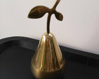 Vintage brass pear. Vintage brass pear