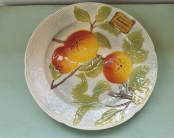 French Vintage 1950s St Clements/' Hand Painted Leaf Shaped Fruit Bowl Mint Condition Beautiful Centrepiece