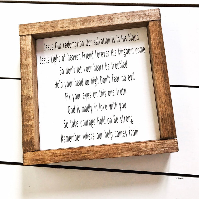 Good Grace Lyrics - Hillsong Lyrics - Framed Sign - Motivational Sign -  Wood Signs