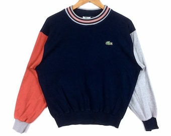 1c52c58419 Vintage LACOSTE petit LOGO Crewneck Sweatshirt multicolore Saiz 3