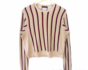 c17c1373d1bb Japanese Designer!!! The Famous Y S For Men YOHJI YAMAMOTO Stripe Crewneck  Sweatshirt Made in Japan Small Size