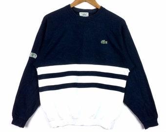 4e92a90ce4f1 Vintage LACOSTE SPORT SMALL Logo Crewneck Sweatshirt Multicolour Saiz 4