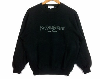 62e2240966c The Famous Luxury YVES SAINT LAURENT Ysl Paris Crewneck Sweatshirt Black  Colour Medium Size