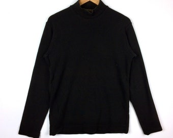 990a1def1dd Vintage Y S YOHJI YAMAMOTO X Y s For Men Made in Japan Turtle Neck Plain  Black Colour Medium Size