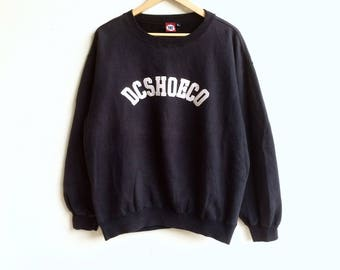 Skateboarding! The famous DC SHOECO big logo sweatshirt black colour large size