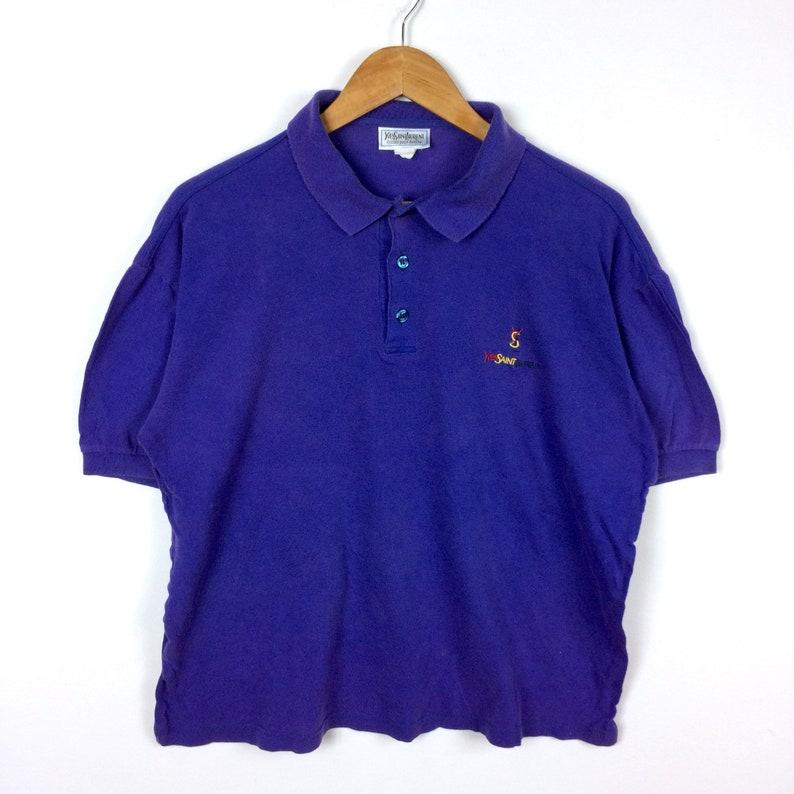36ef06cd Rare The Famous Luxury YVES SAINT LAURENT Ysl Polo Shirt   Etsy