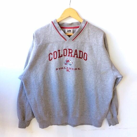 Rare Vintage NHL COLORADO AVALANCHE By Lee Sport Sweatshirt  beb21048a