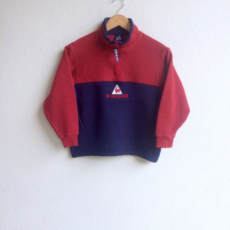 bc259e02dd1 Sportif The famous LE COQ SPORTIF made in France red x blue | Etsy
