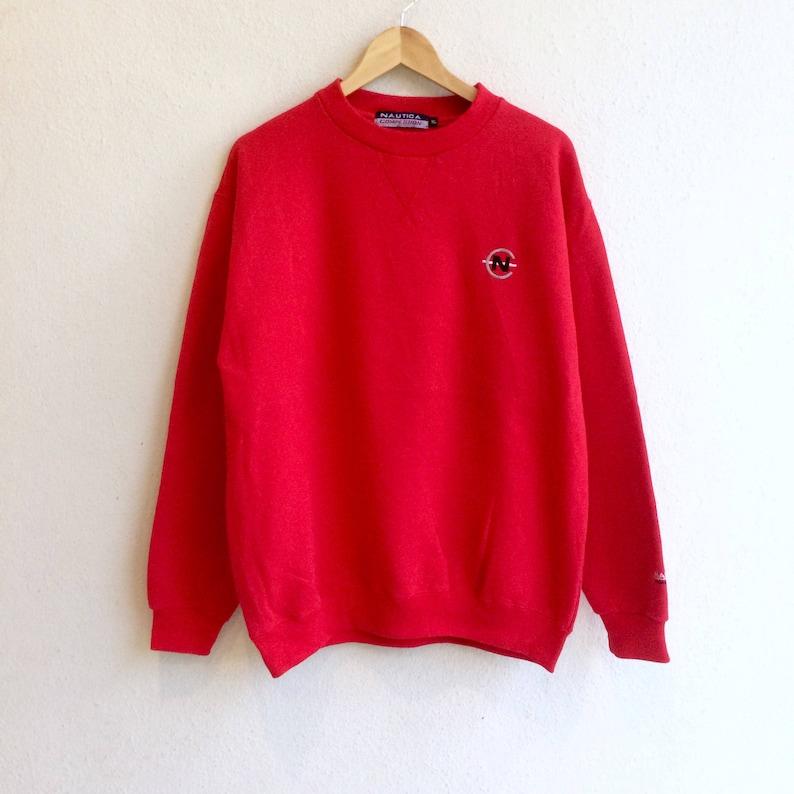 more photos 0e3b1 2dff2 Amerikanische Kleidung Marke! Die berühmte NAUTICA Wettbewerb kleines Logo  Sweatshirt Rot Farbe extra groß