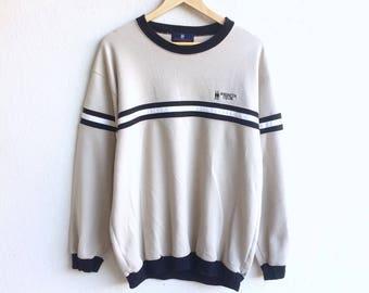 Since 1896! REGATTA CLUB small logo sweatshirt beige colour large size