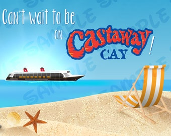 Disney Cruise Door Magnet Castaway Cay