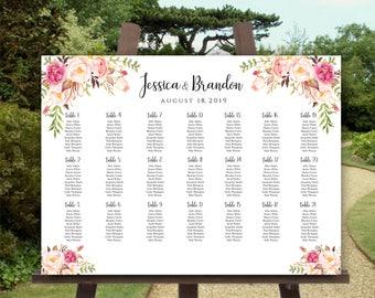 Printable Wedding Seating Chart Template Alphabetical Seating Chart Printable Seating Board Editable Seating Chart Poster Wedding Sign DIY