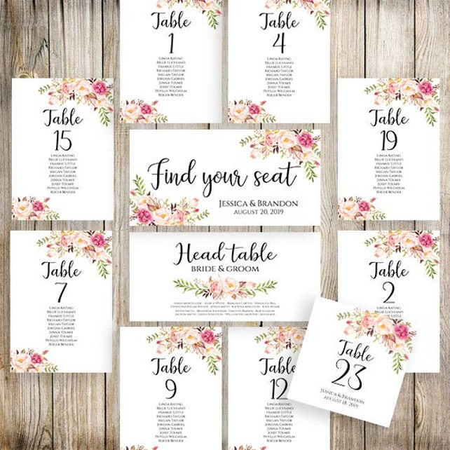 picture regarding Printable Wedding Seating Chart Template called Printable Wedding ceremony Seating Template Seating Method Marriage ceremony