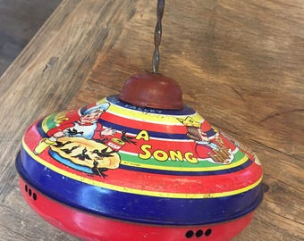 Vintage Toy/Chadvalley Spinning Top/Sing-a-song-of-sixpence