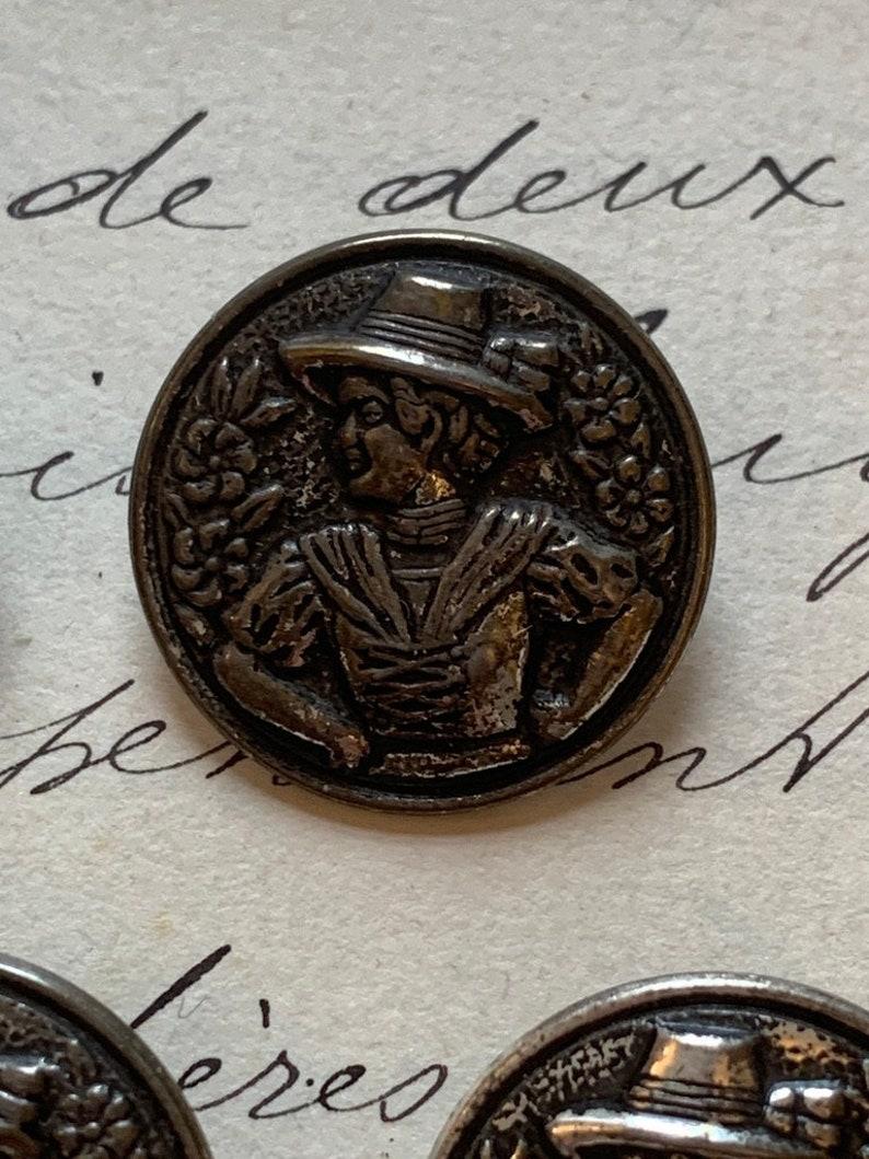 A Rare Set of 5 Vintage Metal ButtonsStamped GES VW GESCH