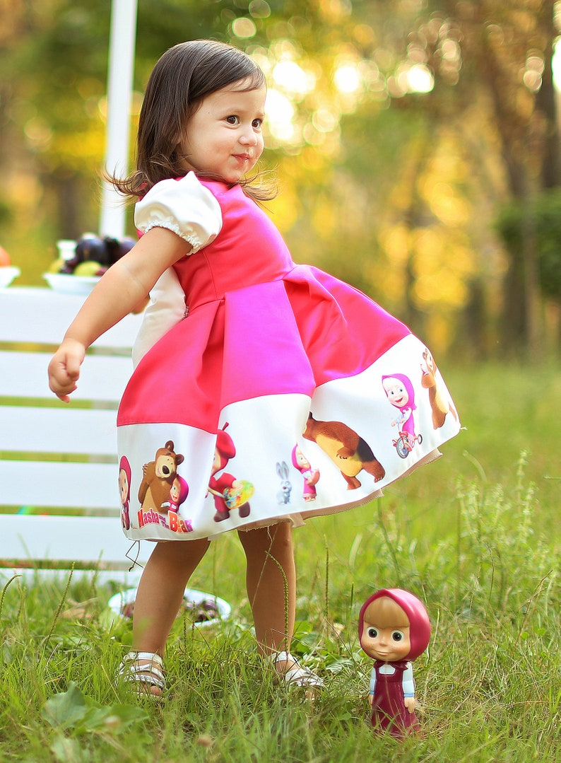 57699d440a6 Masha and the Bear dress Masha and the Bear Party Dresses for
