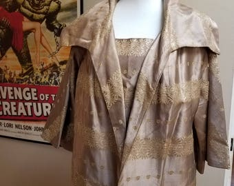 Rare 1950s Vintage Lilli Diamond Dress and Coat