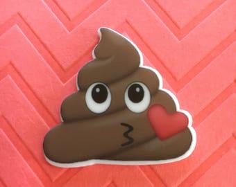 5pc. Poop Emoji planar resin flatback