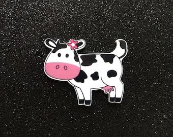 5pc. Moo Cow planar resin flatback