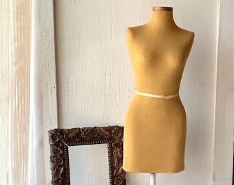 Antique 1/2 half scale Dress Form Female Miniature Tailor Sewing Seamstress Dressmaker Dummy Mid Cenury Country Farmhouse Decor